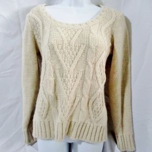 ELSAMANDA ITALY Fisherman Cable Knit Sweater